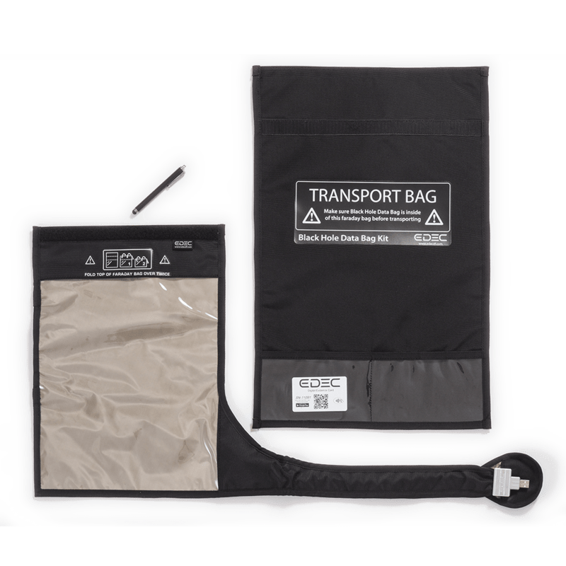 Vector Black Hole Data Bag Forensic Store