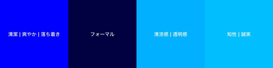 青色のパターン例