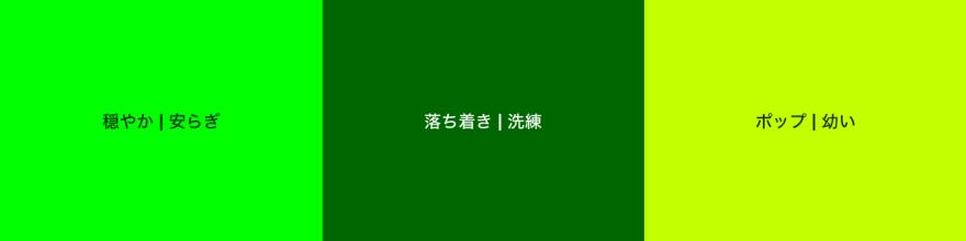 緑色のパターン例