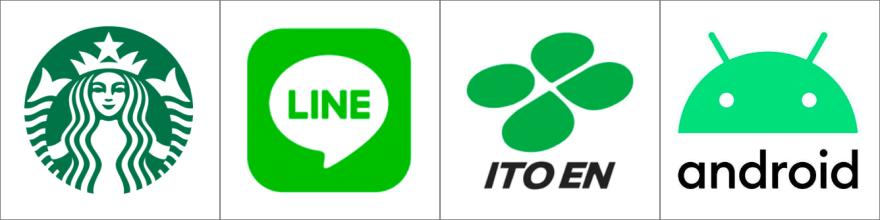 緑色のロゴ例
