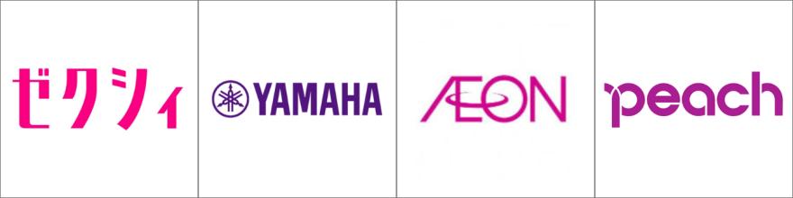 紫色のロゴ例