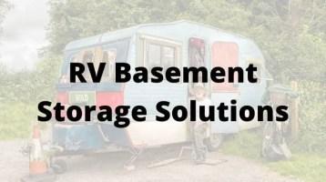 RV Basement Storage Solutions