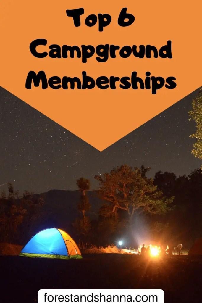 RV Camping Memberships Pinterest Pin