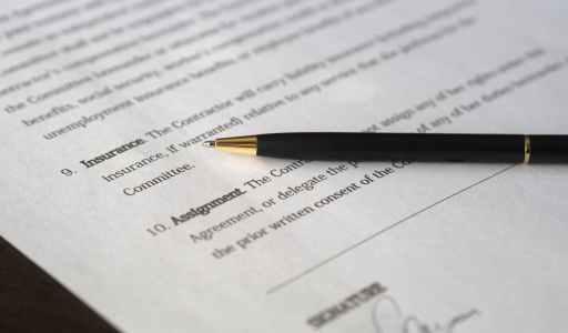agreement blur business close up