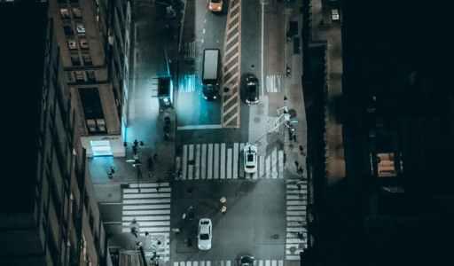light city lights night