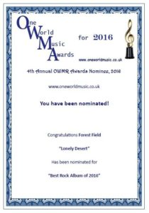 omwr awards 2016 - forest field