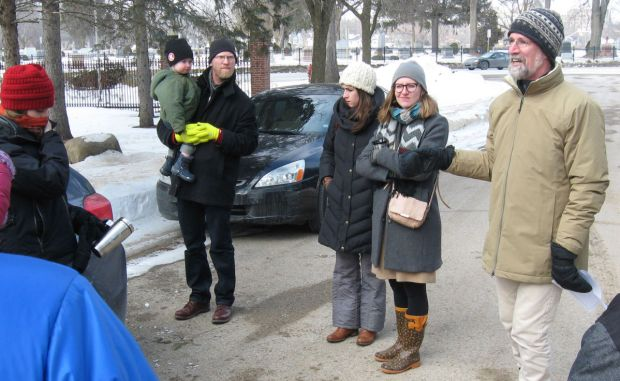 Forest Hill Cemetery Tour, February 21, 2015. Photo by Christine Scott Thomson.