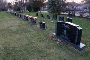 Uniform grave markers