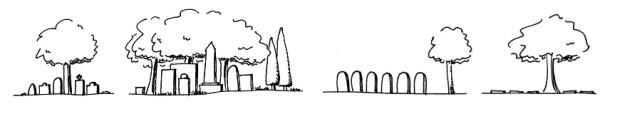 Cemetery design styles