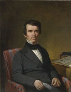 """Increase Lapham (1811-1875) was one of the first people to systematically catalogue Wisconsin's effigy mounds. Wisconsin Historical Society Image 2758. Before he died, Lapham wrote approximately 80 books, articles and pamphlets, including """"The Antiquities of Wisconsin"""" (1855), which remains a useful resource for effigy mound research today."""