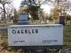 Max David & Carolyn Farr Gaebler