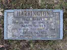 Fred Harvey, Nancy, & Harvey Haynes Harrington