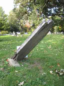Last Remaining Wooden Grave at Forest Hill
