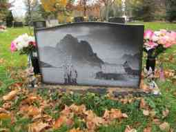 Landscape Scene on Back Side of Cher Ge Xiong & Xo Vang Grave