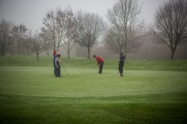 Putting on the 18th