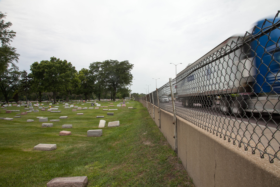 Eisenhower Expressway Forest Home Cemetery Overview