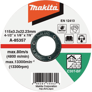 Makita A-85357 - DISC TĂIERE PIATRĂ 115X3X22 - ForeStore