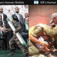 Human Shields: the difference between us & them