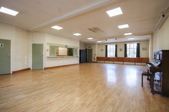 Interior photo of the Peter Griffits Hall