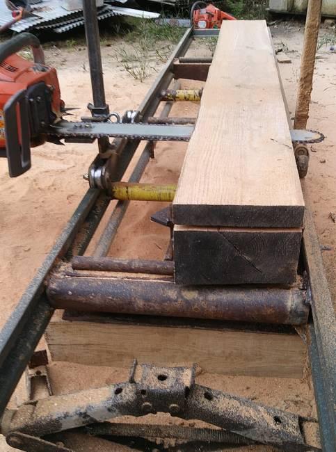 Alaskan Sawmill Setup