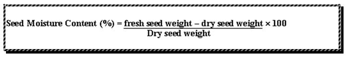 Seed Storage - Seed Moisture Content Percentage - Forestrypedia
