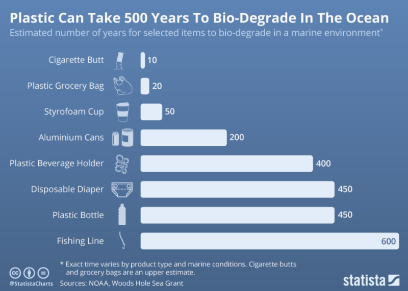 Plastic bottles takes 500 Years to decompose - Forestrypedia