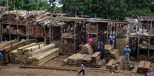 New EU and US import regulations could negatively affect small-scale operators, such as those in Montée Parc Wood Market, Yaoundé, Cameroon (pictured). Ollivier Girard/CIFOR