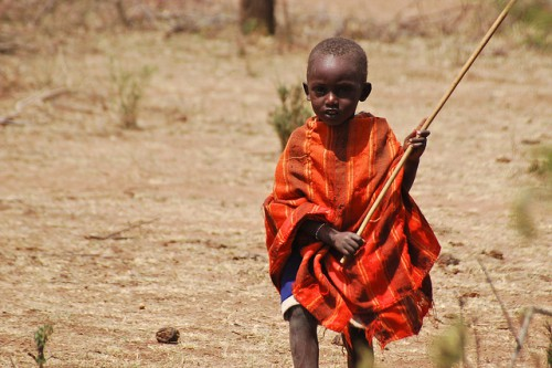 A Maasai child. Kenya. Photo by Tim Cronin for Center for International Forestry Research (CIFOR).