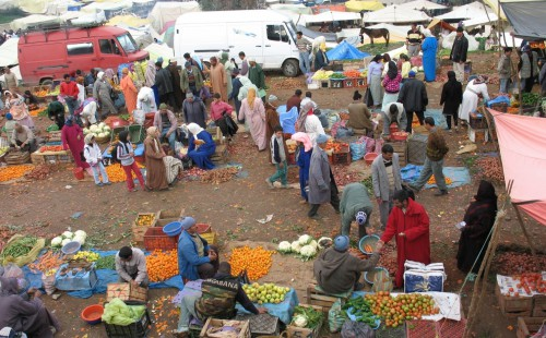 Moroccan open air market. Bronwen Powell photo.