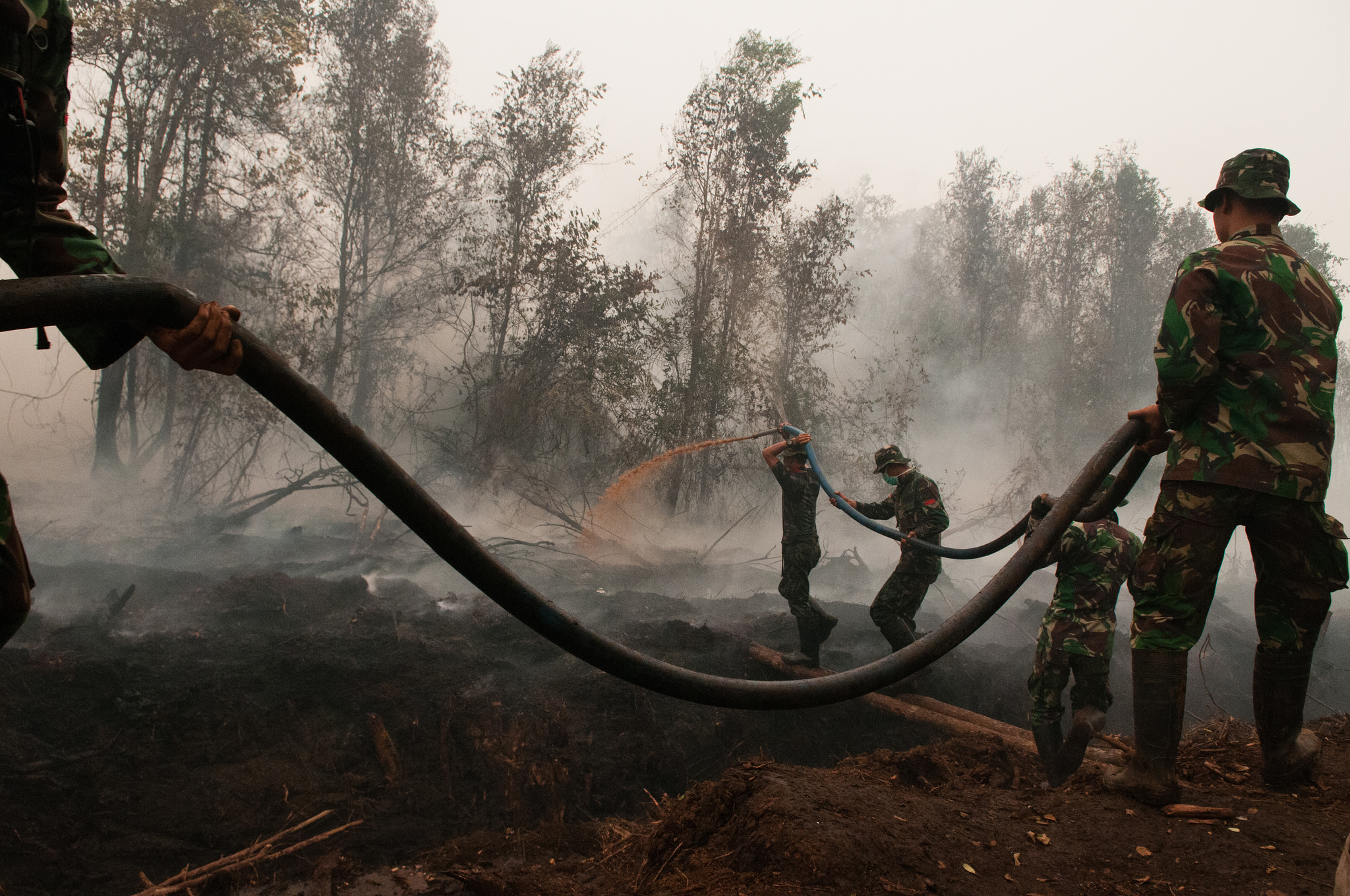 Fighting fire and haze in Indonesia