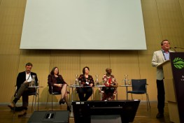 """Looking at the past to shape the Landscape Approach of the future"" panelists at the Global Landscapes Forum, Bonn, Germany."