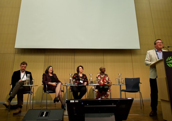 """""""Looking at the past to shape the Landscape Approach of the future"""" panelists at the Global Landscapes Forum, Bonn, Germany."""