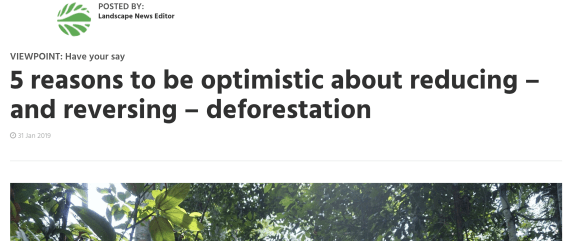 Justin Adans, Global Landscape Forum, 5 reasons to be optimistic about forests