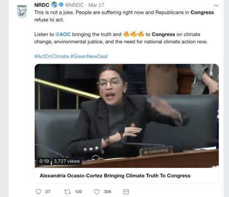 Alexandria Ocasio-Cortez, climate change, oil, congresswoman, congress address, US congress