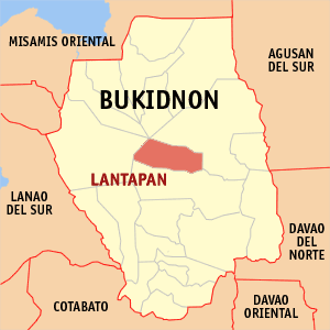 Map of Lantapan in Bukidnon province, Philippines. Source: Wikipedia