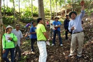 Explaining Smart Tree-Invest somewhere else in Lantapan. Photo: World Agroforestry Centre