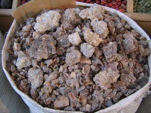 Bag of frankincense at spice souk. Photo: Liz Lawley via Wikimedia Commons