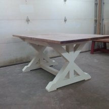 Trestle X Table - Forest Trek Woodwork