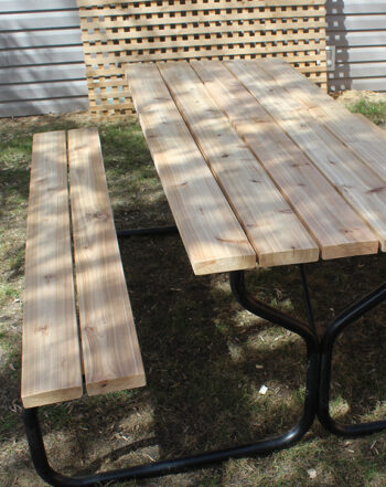 Metal Picnic Table Edmonton Archives Forest Trek Woodwork