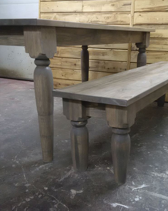 Harvest farm table rustic legs