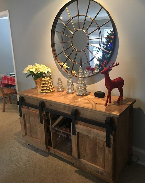 barndoor barn door console table edmonton alberta canada