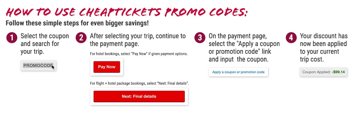 Official CheapTickets Promo Codes & Coupons 2021