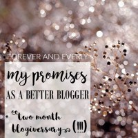 My Promises as a Better Blogger // Two Month Blogiversary!!!