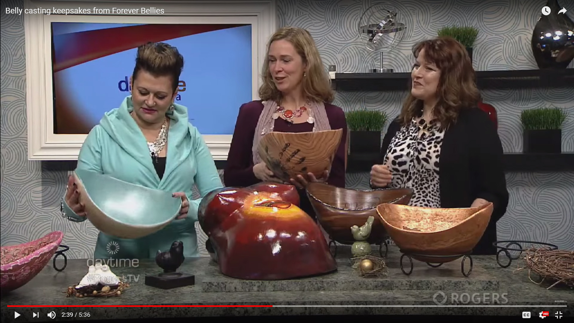 Rogers Daytime Ottawa Forever Bellies Interview Screenshot Dana Cote Belly Cast Artist at Work