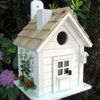 Trellis Garden Cottage White Bird House | Forever Bespoke