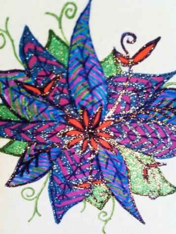 Glitter Pen Flower