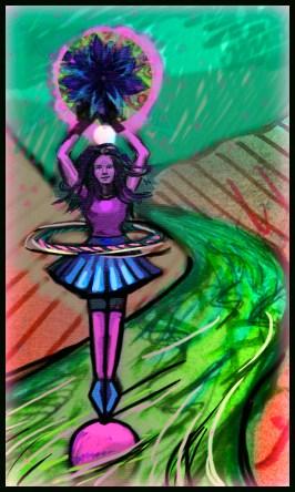 hula hooping is fun...