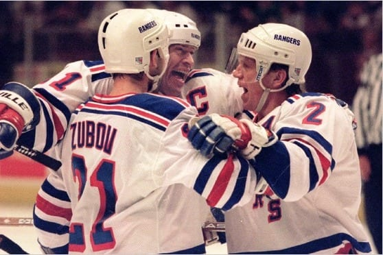 Messier, Leetch and Zubov were key in winning the Cup in 1994 (Getty)