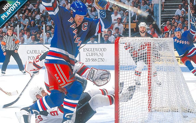 Messier backs his talk with a hat-trick in game 6! (SI)