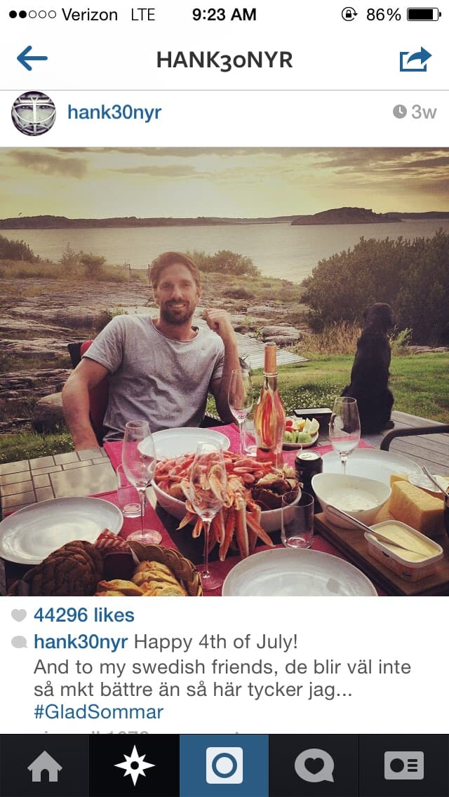 Fthn Hockey Living Henrik Lundqvist S Summer Vacation Forever